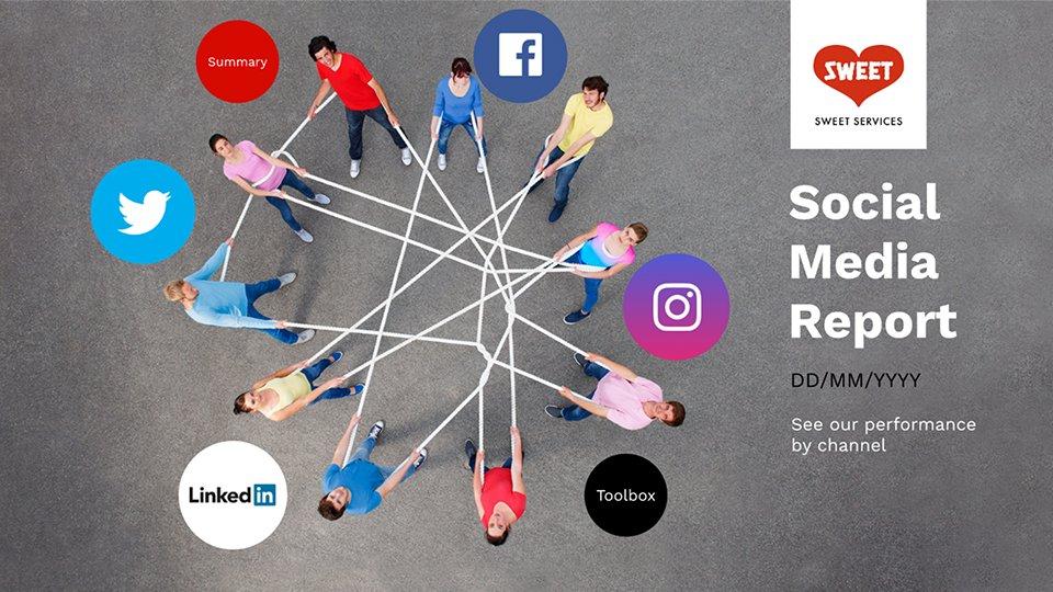 Social Media Presentation Template For Professionals